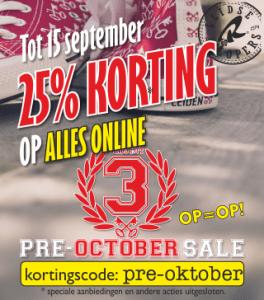Kortingscode: PRE-OKTOBER