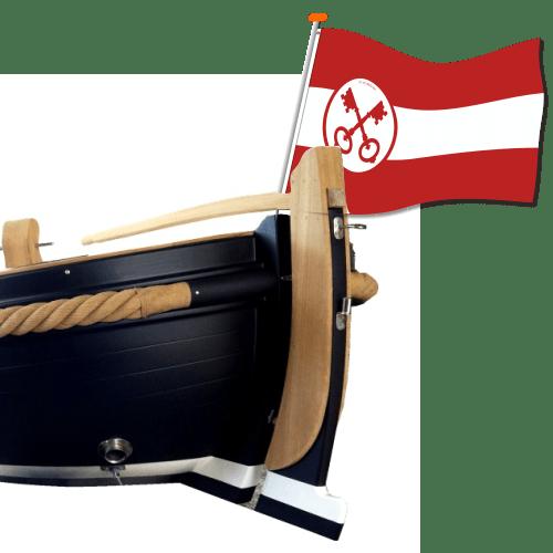Leidse boot-vlag, water-vlag Leiden