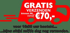 Gratis verzenden vanaf €70,-