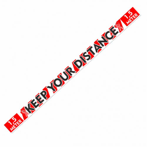 Houd-Afstand, Keep-distance sticker