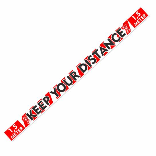 Houd-Afstand, Keep-distance sticker